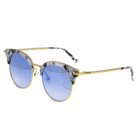 f10d9e8d9 Óculos de Sol Colcci C0083 F99 18 - acetato tartaruga branco/metal dourado,  lente azul espelhado