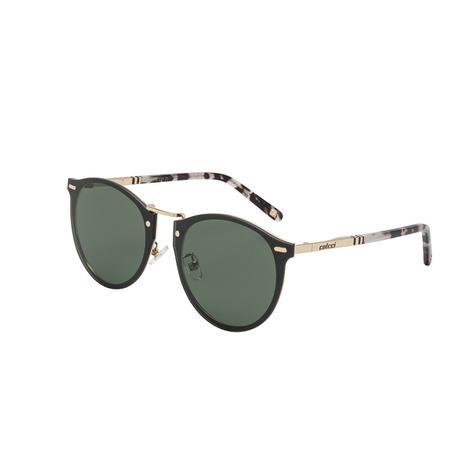 6ecebedca8fec Óculos De Sol Colcci C0098 Dourado Brilhante Demi Marrom Lente Verde ...
