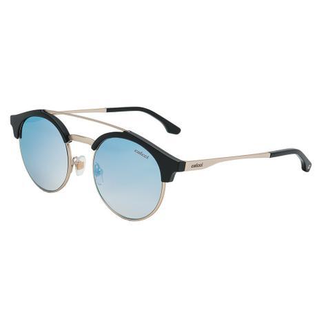 c7f391869 Óculos de Sol Colcci Tarsi Feminino C0131 A14 06 - Acetato Preto, Metal  Prata e Lente Espelhada Azul