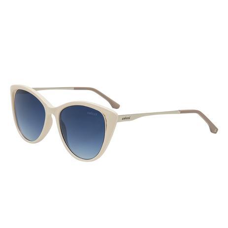 342cfb975 Óculos De Sol Colcci Valentina C0123 Branco Off White Lente Azul ...