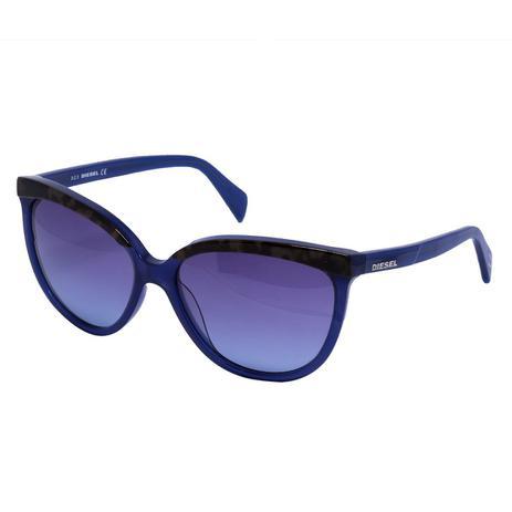 34886aec5 Óculos de Sol Diesel Feminino DL0081 - Acetato Roxo e Lente Azul ...