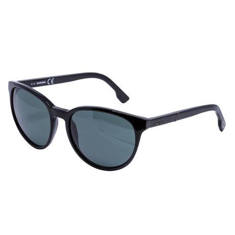 Óculos de Sol Diesel Feminino DL0123 - Acetato Preto e Lente Cinza ... f9fef28298
