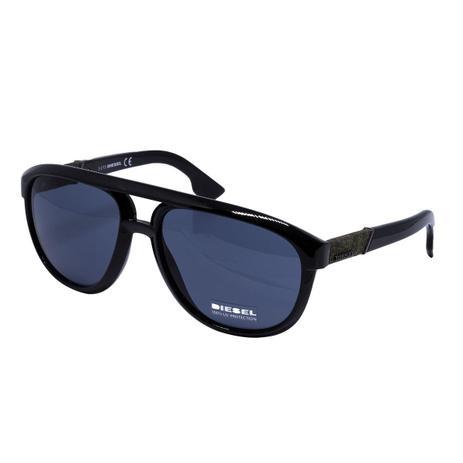 b05ed0543 Óculos de Sol Diesel Masculino DL0087 - Acetato Preto e Lente Azul ...