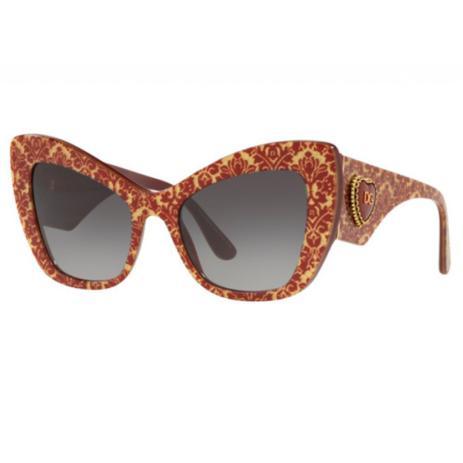3556b9398 Óculos de Sol Dolce Gabbana 4349 Borgonha e glitter 3206/8G - Óculos ...