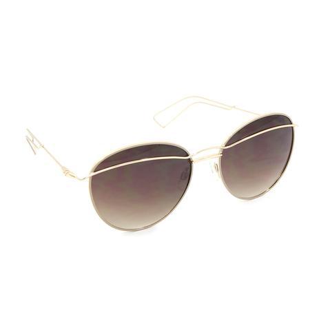 Óculos de Sol Dourado com Lente Marrom - Bijoulux - Acessórios de ... fc9be16a41