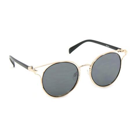 36451a403cfab Óculos de Sol Dourado com Lente Preta - Bijoulux - Acessórios de ...