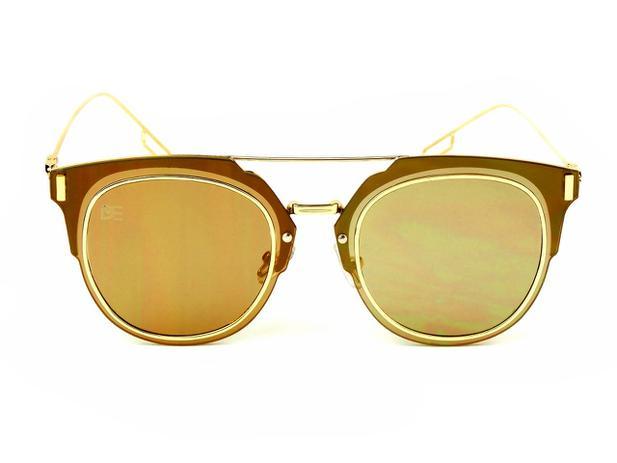 aa24a34cf Oculos de Sol Drop mE Clubmaster Flat Espelhado Dourado - Drop me acessorios
