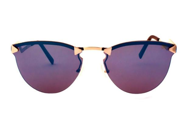 Oculos de sol drop me feminino gatinho icone haste flash espelhado azul -  Drop me acessorios 1355adcea8
