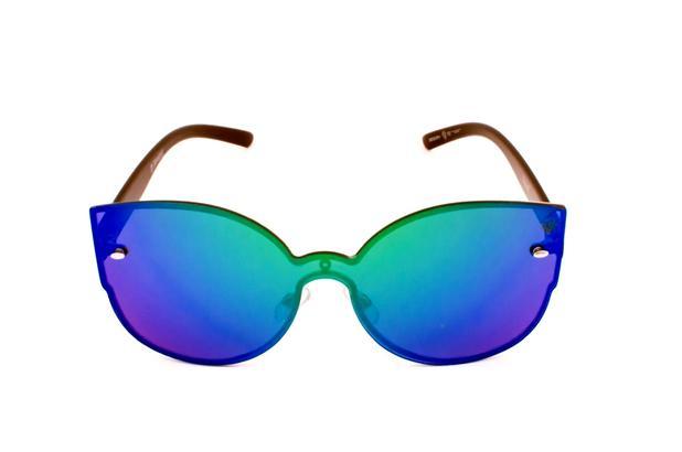2decb6226 Menor preço em Oculos de sol drop me las gatinho mascara espelhado dual  verde/azul