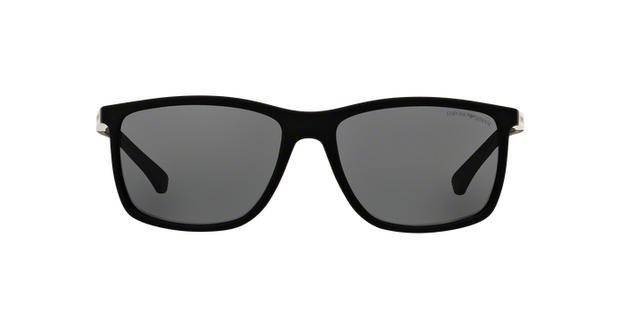 d32439fbde460 Óculos de Sol Emporio Armani EA4058 506381 Preto Emborrachado Lente Cinza  Tam 58