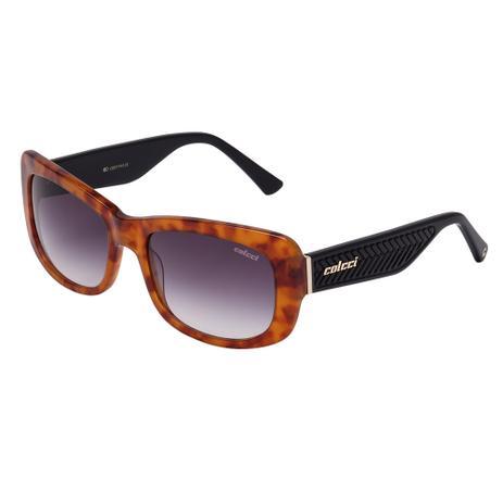 Óculos De Sol Feminino Amarelo Demi e Preto Brilho C0017 Colcci ... 7114fa7ed3