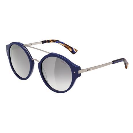 363d403abdcf1 Óculos De Sol Feminino Azul e Prata Brilho C0024 Colcci - Óculos de ...