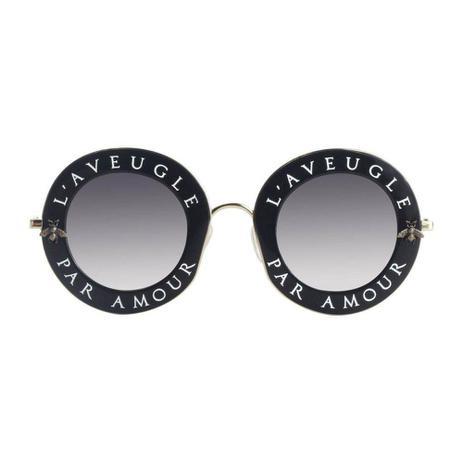 546c43916 Óculos De Sol Feminino Gucci Gg0113s-001 Laveugle Original - Óculos ...
