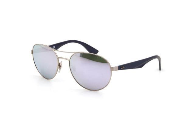 88c8b34d1ec95 Óculos de Sol Feminino Lente Policarbonato Proteção UV Prata - Ray ...