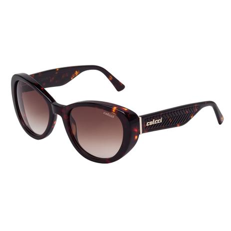 Óculos De Sol Feminino Marrom Demi C0016 Colcci - Óculos de Sol ... e7e277d2f2