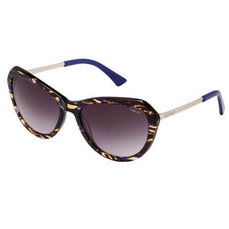 5f269c390322b Óculos De Sol Feminino Marrom Demi Haste Dourado Fosco Colcci ...