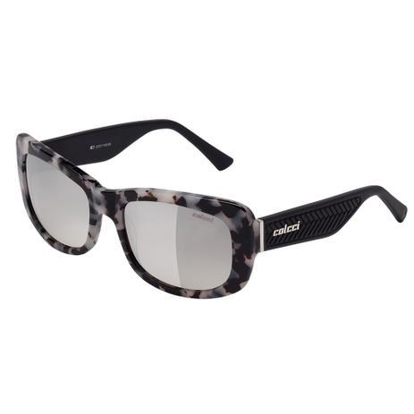 23e9b1b725f Óculos De Sol Feminino Preto E Branco Demi E Preto Fosco Colcci ...
