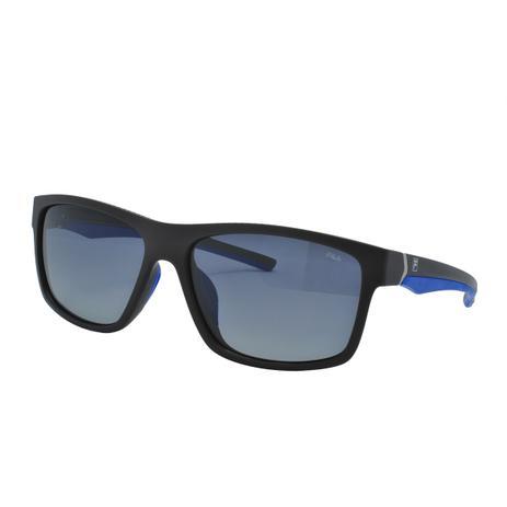 9743670d5116a Óculos de Sol Fila Masculino SF9142 6XKP - Acetato Marrom Escuro, Azul  Fosco e Lente Polarizada