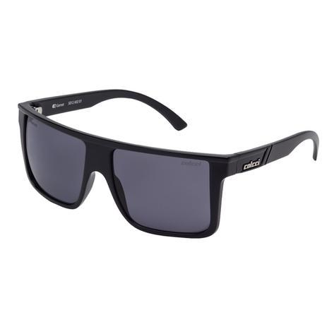 6fcd41870 Óculos De Sol Garnet Masculino Preto Brilho Lente Cinza Colcci ...