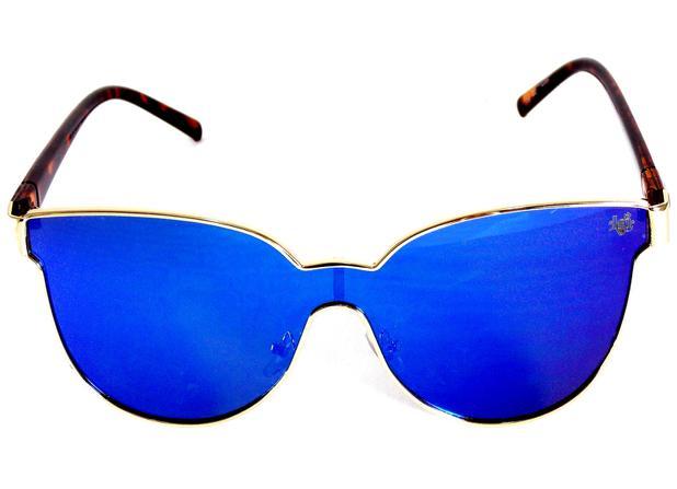 ccb3b1c59 Óculos de Sol Gatinho Drop mE Havana Lente Flat Azul - Drop me acessorios