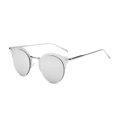 d0da97ea9 Menor preço em Óculos de Sol Gatinho Feminino Retrô Vazado Vaz Prateado -  Ilook