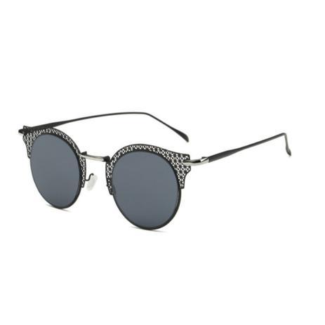 c85e39c5f Óculos de Sol Gatinho Feminino Retrô Vazado Vaz Preto - Ilook ...