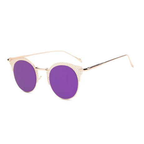 dcbec9796 Menor preço em Óculos de Sol Gatinho Feminino Retrô Vazado Vaz Roxo - Ilook