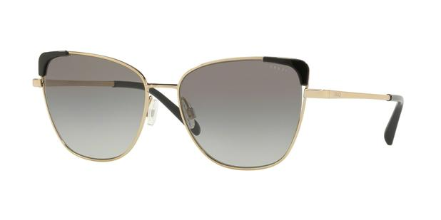 0ab5d07f1237b Óculos de Sol Grazi Massafera GZ2003 F924 Ouro Lente Cinza Degradê Tam 56