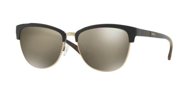 27578a2b21e2a Óculos de Sol Grazi Massafera GZ4012 F351 Preto Ouro Com Cristais Da SWAROVSKI  Lente Espelhada Ouro Tam 55