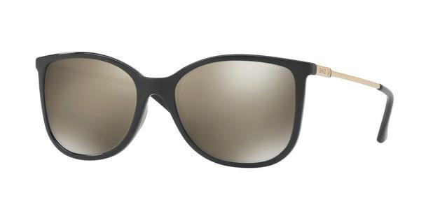 f63568b4e Óculos de Sol Grazi Massafera GZ4020 E825 Preto Lente Espelhada Ouro Tam 55