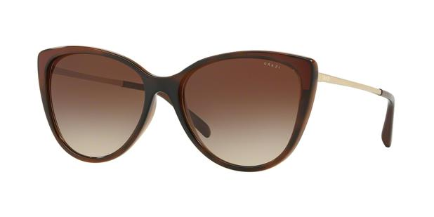 Óculos de Sol Grazi Massafera GZ4029 F929 Marrom Translúcido Lente Marrom  Degradê Tam 56 cef46cf9ba