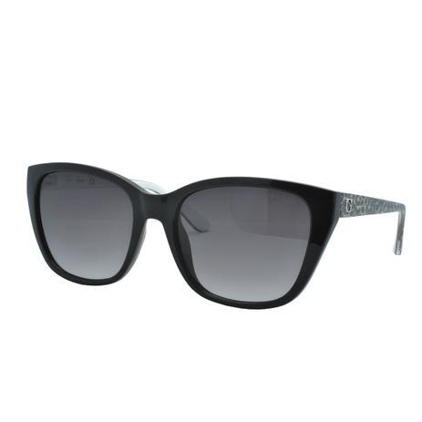 271694c29 Óculos de Sol Guess Feminino GU7593 05B - Acetato Preto e Haste Oncinha