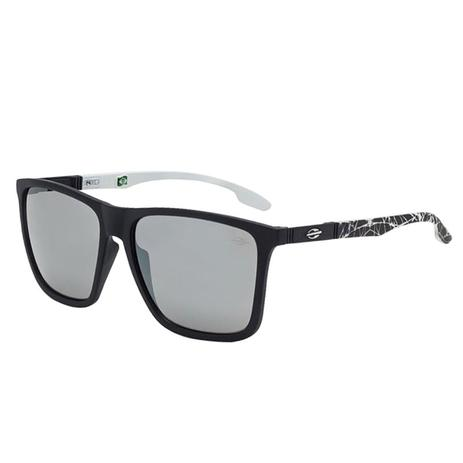 d1f48a355aaf4 Óculos De Sol Hawaii Preto Fosco E Branco Com Lente Cinza Mormaii ...