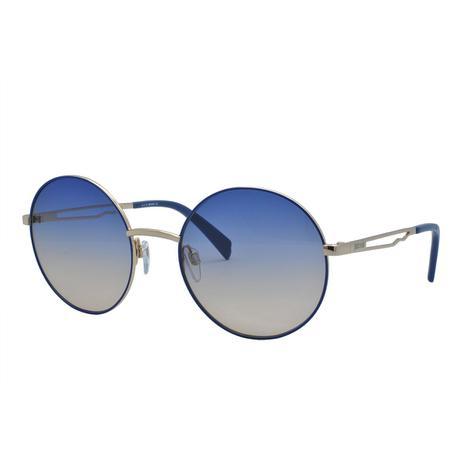 0ad2177bd1d97 Óculos de Sol Just Cavalli Feminino JC840S 92W - Metal Azul e Dourado e Lente  Azul e Marrom Degradê - Óculos de Sol - Magazine Luiza