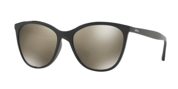 370e4fe11 Óculos de Sol Kipling KP4050 F302 Preto Lente Espelhada Ouro Tam 57 ...