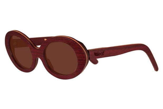 Óculos de Sol Leaf em Madeira - Kurt Roxinho - Lente Cinza 52 ... 22c25163ba