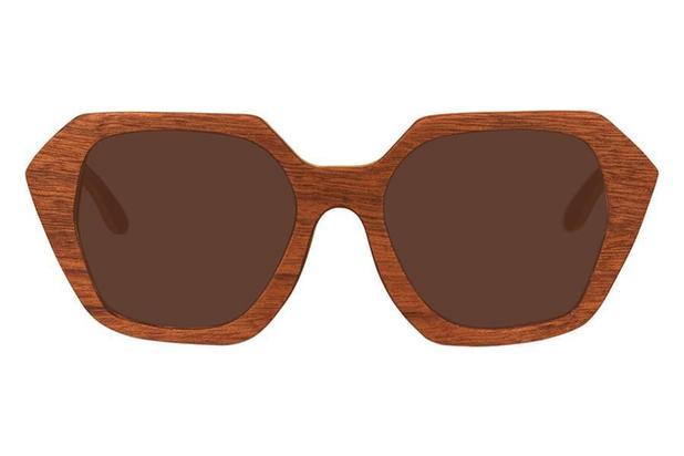 5de2b69bfb19b Óculos de Sol Leaf em Madeira - Stone Brown - Lente Marrom 52 ...