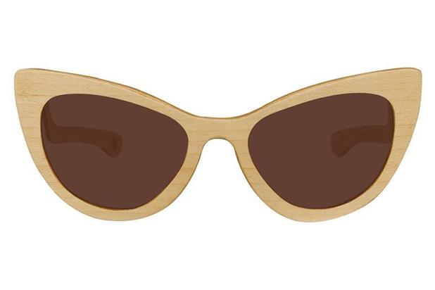 ccdba220b9fd6 Óculos de Sol Leaf em Madeira - Thunder Maple - Lente Marrom 56 ...