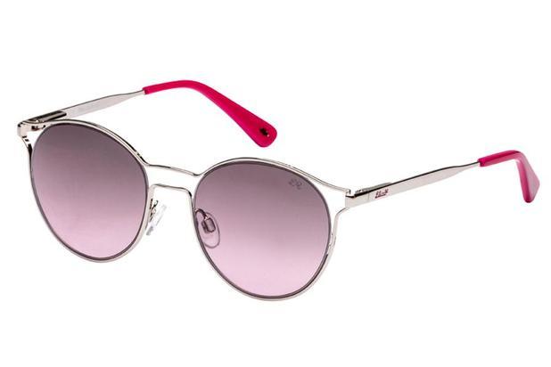 7e67bc73b676c Óculos de Sol Lilica Ripilica SLR115 C01 48 Prata Rosa - Óculos de ...