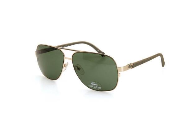 cb69f797e5a60 Óculos De Sol Masculino Lacoste Metal Proteção UV Dourado - Óculos ...