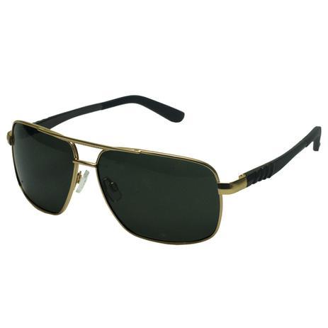 Óculos De Sol Masculino Metal Polarizado Dourado Preto 714 - Izaker ... fcf0043ffb