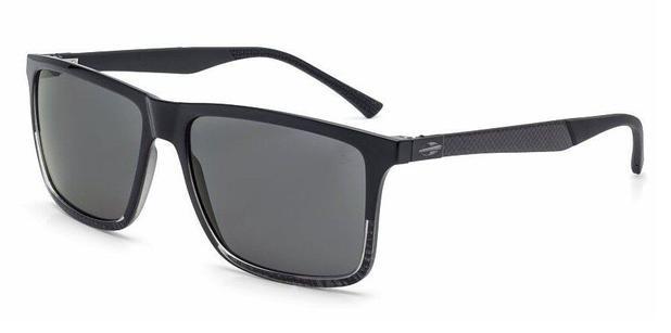 Óculos de sol mormaii kona plus preto brilho lente cinza preto ... d95c576515