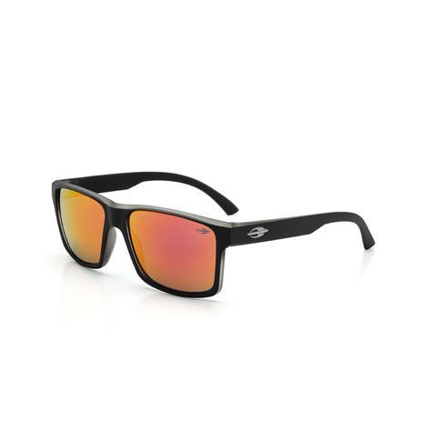 428aa7f96 Óculos de Sol Mormaii LAGOS M0074 A87 11 Preto Lente Espelhada Laranja  Vermelho Tam 55