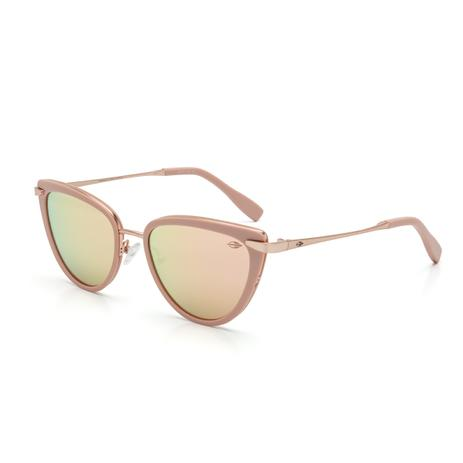 63c500be3b323 Óculos de Sol Mormaii M0070 B54 46 Nude Lente Espelhada Rosa Tam 52 ...