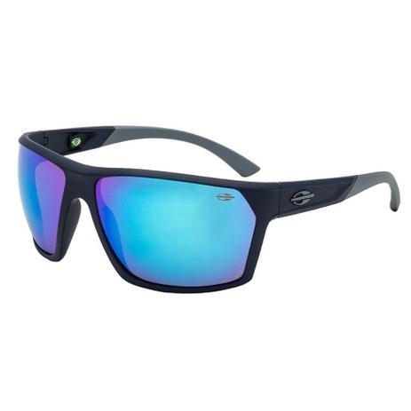 bb30cfbf59adf Óculos de Sol Mormaii Storm Curvado Masculino M0079K3397 - Acetato Azul e Lente  Azul Espelhada