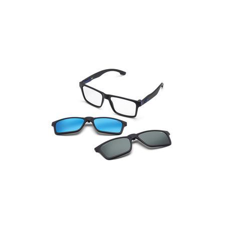 2b64554d8 Óculos de Sol Mormaii SWAP M6057 AAU 56 Preto Clip-On Lente Espelhada Azul  Cinza Tam 56
