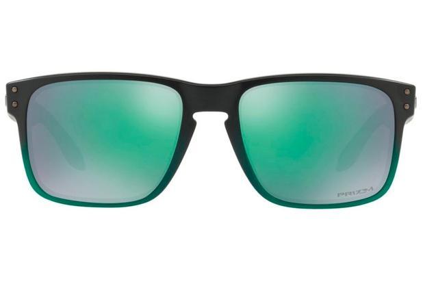 Óculos de Sol Oakley Holbrook 0OO9102 E4 55 Verde Degradê Lente Verde  Espelhado 8e18c88345