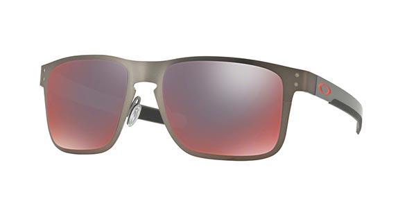 7c17e0f0ea995 Imagem de Óculos de Sol Oakley Holbrook Metal OO4123 Grafite Lente Roxo  Iridium Polarizado