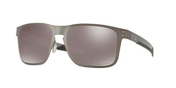 1deb46b0bd3ad Imagem de Óculos de Sol Oakley Holbrook Metal OO4123 Prata Lente Prizm Preto  Polarizado