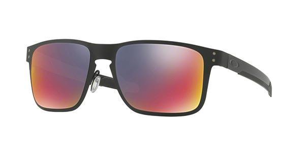 Imagem de Óculos de Sol Oakley Holbrook Metal OO4123 Preto Fosco Lente  Vermelho Iridium 54ae479228
